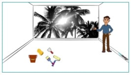 Wallpaper installation image guide
